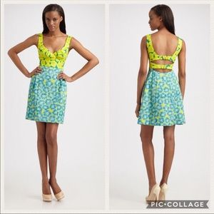 "Nanette Lepore ""Girls only"" dress floral size 2"